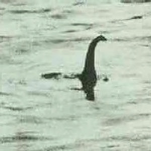 Grainy 1930s picture of Loch Ness Monster